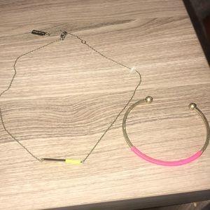 Set of Neon Bracelet/Bar Necklace